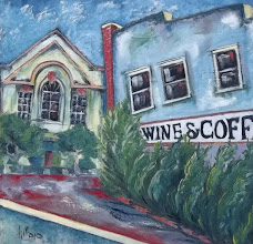 Photo: Mural by Pene DiMaio - Cru Wine & Coffee