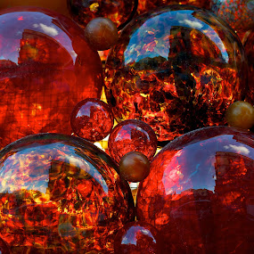 Red Bubbles by Renata Apanaviciene - Abstract Fine Art ( red, colors, events, buubles, christmas )