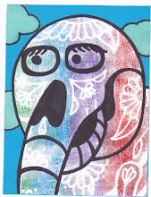 Photo: Wenchkin's Mail Art 366 - Day 196 - Card 196a