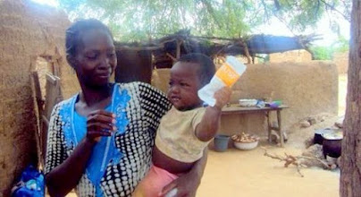 Photo: Submitted by Save the Children  Mothers are reporting healthier children, like Alidou, above, thanks to the partnership of ACDI/VOCA and Save the Children on the USAID-funded Victory Against Malnutrition (ViM) program in Burkina Faso. Alidou's mother, Aguirata, notes that her son benefited from the rations received during her pregnancy, exclusive breastfeeding until he was six months old, and the Ready to Use Supplementary Food (RUSF) he receives now that he is just over a year old.