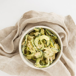 Avocado-Tuna Salad with Cucumber Noodles Recipe