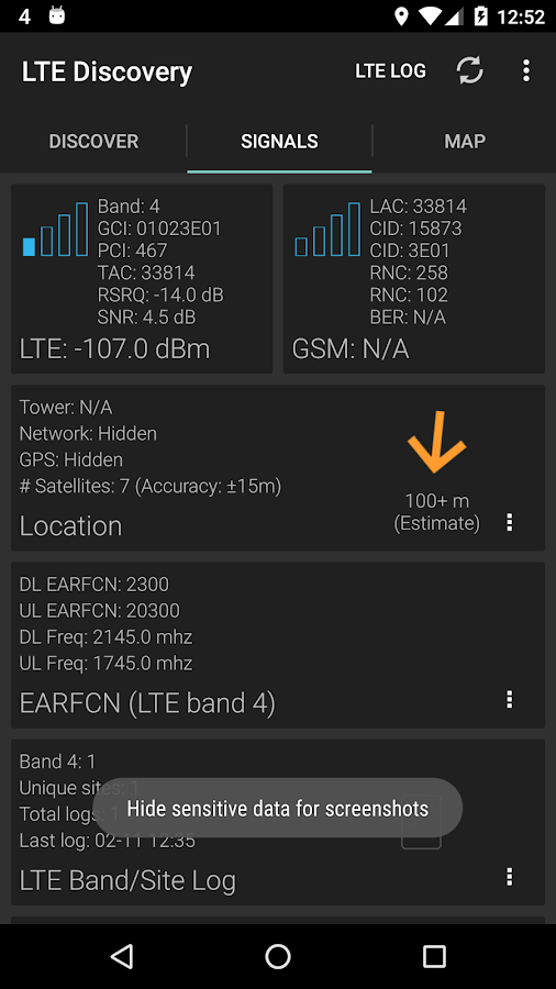 LTE Discovery- screenshot