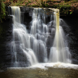 Goit stock waterfalls(the main fall) by Phil Cookson - Landscapes Waterscapes ( waterfalls, woodland, stunning walks, autumn colours, wildlife )