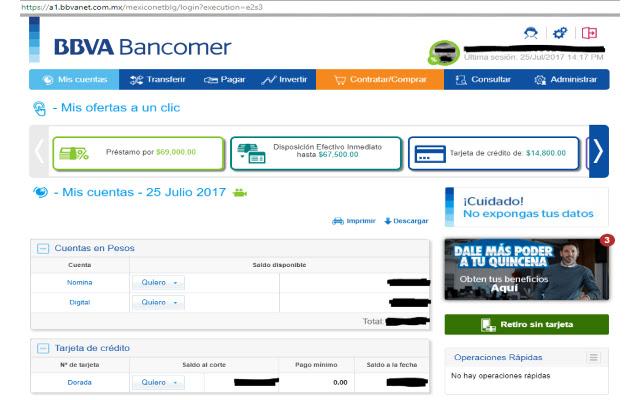 BBVA Bancomer - Gastos de tarjeta de crédito