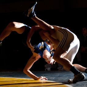 Wrestlers dance by Bill  Brokaw - Sports & Fitness Other Sports ( high school, wrestling, boys, sports, competition )
