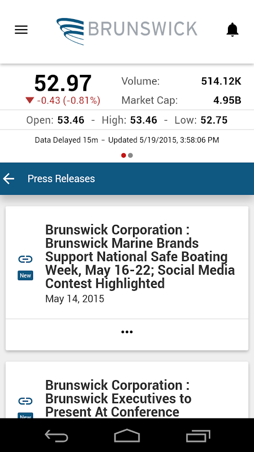 Brunswick IR- screenshot