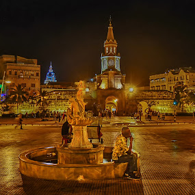 The Thinker II by Andrius La Rotta Esquivel - City,  Street & Park  Fountains ( charming, amazing, beatiful, fountain, interesting, street scene )