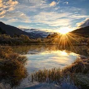 Morning joy by Uroš Florjančič - Landscapes Mountains & Hills