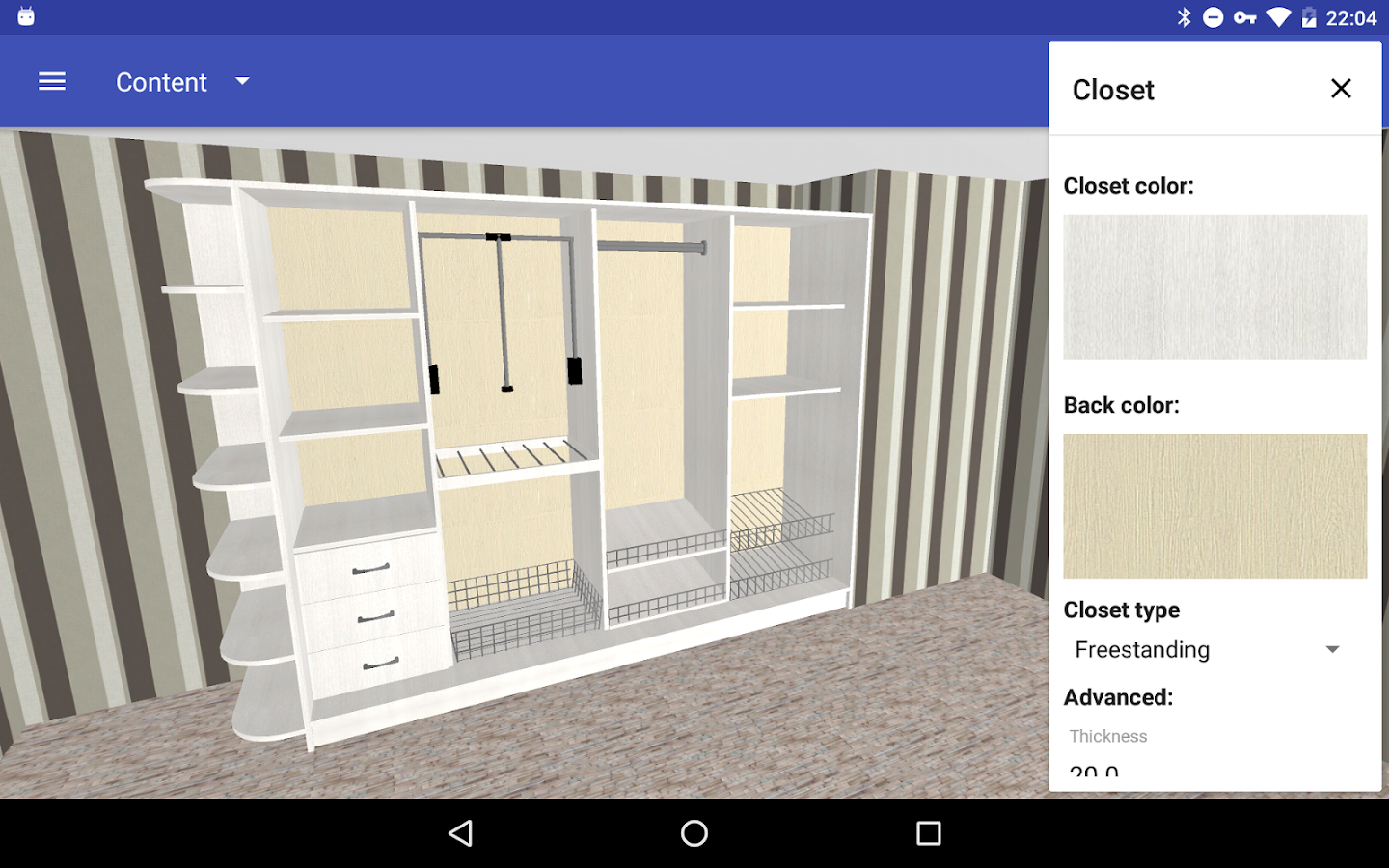 closet planner 3d android apps on google play. Black Bedroom Furniture Sets. Home Design Ideas