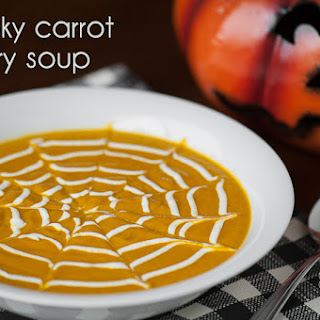 Spooky Carrot Curry Soup