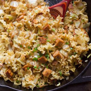 Vegan Haluski (Cabbage Noodles) with Smoky Tofu Recipe