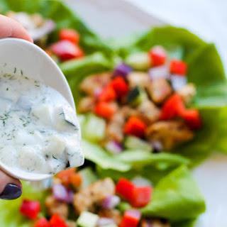 Greek Chicken Lettuce Wraps.