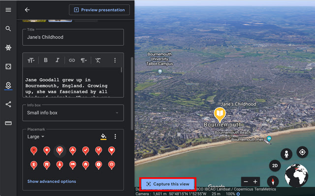 Screenshot of a 3D View of Bournemouth