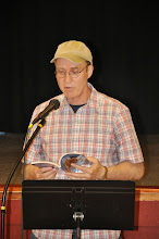 Photo: James Parrott reads his contribution to the anthology (his first published poem).