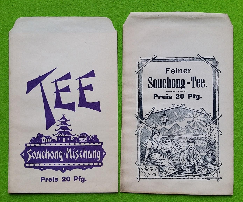 Papiertüten aus der Drogerie und Apotheke - Souchong-Tee
