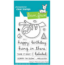 Lawn Fawn Clear Stamps 3X4 - Hang In There