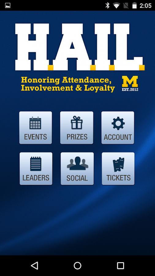 HAIL Michigan Athletics- screenshot