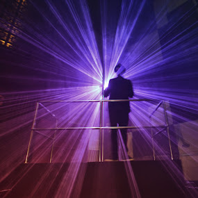 Light & Shadow by Goddes Puffz - People Musicians & Entertainers ( #lightart, #nightclub, #live, #people )