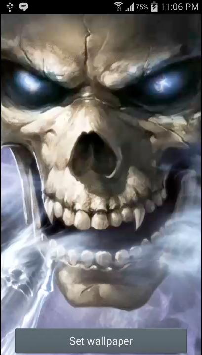 Horror Skull Live Wallpaper Android Apps Appagg