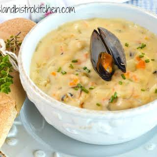 My Island Bistro Kitchen's PEI Mussel Chowder.
