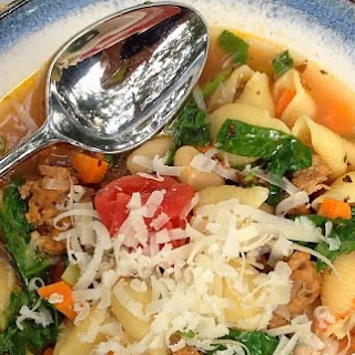 Hearty Italian Sausage and White Bean Soup