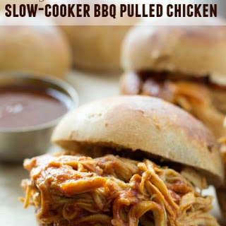 2-Ingredient Slow-Cooker BBQ Pulled Chicken