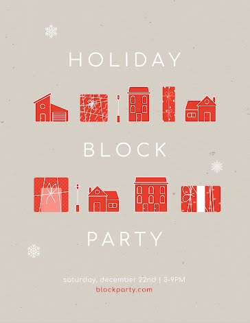 Winter Holiday Block Party - Party Invitation Template