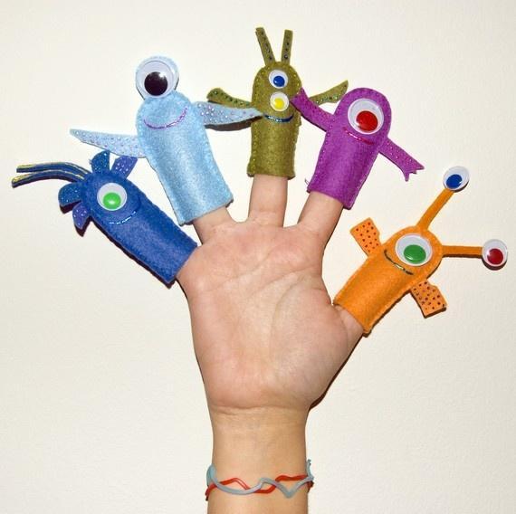 marionetas de fieltro para los dedos -- by Lasanyadeverdura