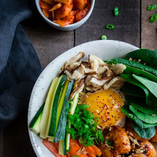 Shrimp Bibimbap Bowl (Korean Rice Bowl) Recipe