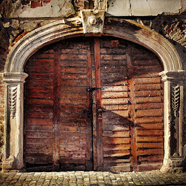 The Entrance by Zsolt Zsigmond - Buildings & Architecture Architectural Detail ( old, exterior, ruin, door, architecture, decay, city )