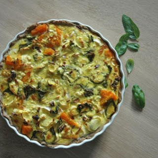 Spicy Pumpkin Quiche with Goat Cheese