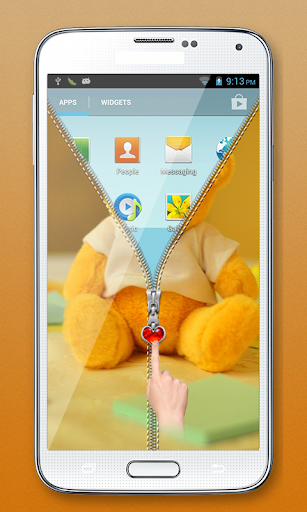玩免費個人化APP|下載テディベアジッパーロック app不用錢|硬是要APP
