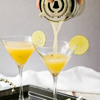 Passion Fruit Martini with Honey & Basil.