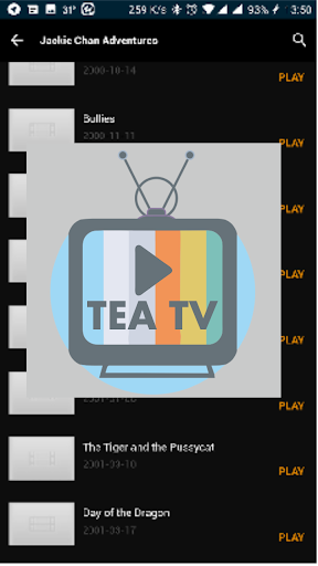 TeaTV - TV and Movie Info 1.0 screenshots 1