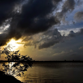 MONSOON CLOUDS.. by Ajit Kumar Majhi - Landscapes Cloud Formations ( cloud_scape, sunset, silhouette, monsoon_clouds, landscape )