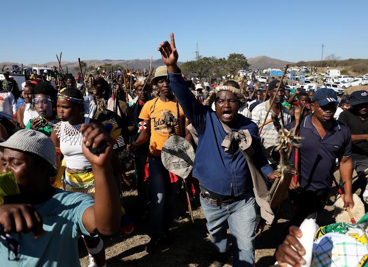 Supporters of Jacob Zuma have gathered outside Nkandla in KwaZulu-Natal.