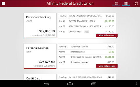 Affinity Federal Credit Union screenshot 9