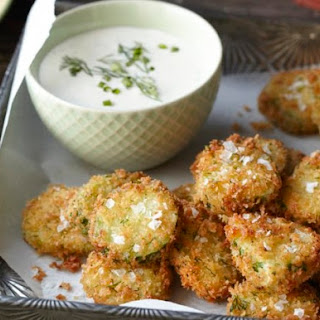 Fried Homemade Pickles with Ranch Dressing From 'Kitchen Confidence'.