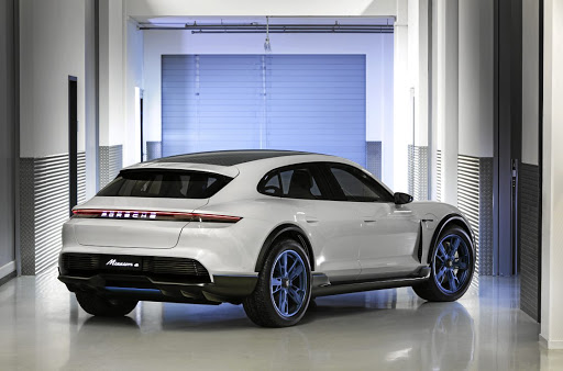 The concept is the first crossover style vehicle from the brand. Picture: PORSCHE