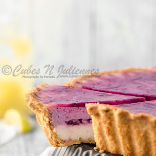 Lemon Curd-Blueberry Mascarpone Cheese Tart