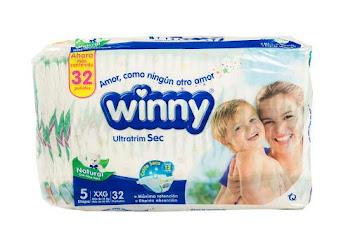 Pañales Winny Sec Etapa 5 XXXG  Ultratrim Natural x 30Und
