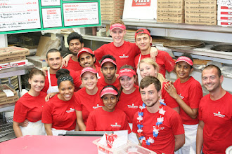 Photo: Our crew is from all over the world! This is part of our 2015 Pizza Crew :)