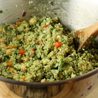 Pesto Quinoa Salad.