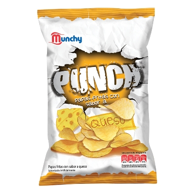 snack munchy papas punch queso 80gr