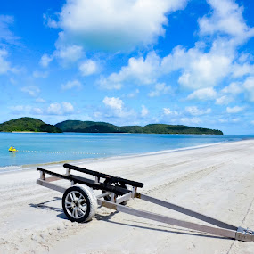 Pantai Cenang Beach, Langkawi by Pallab Bhowmik - Landscapes Beaches ( beautiful, blue, beach, clouds, sea )