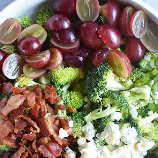Broccoli Bacon Grape Blue Cheese Salad