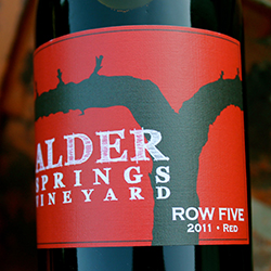 Logo for Row Five Alder Springs Vineyards