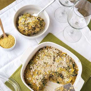 Mushroom Lentil Spaghetti Squash Casserole.