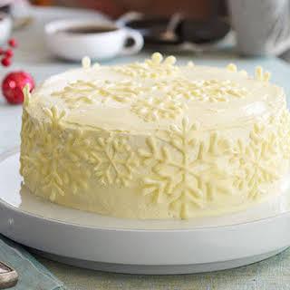 Vanilla Snowflake Cake.