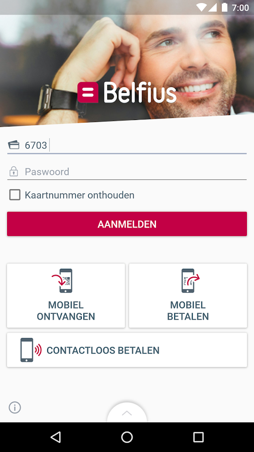 Belfius Mobile: screenshot